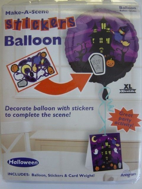 1786837 BALLOON FOIL 18 INCH - HALLOWEEN HAUNTED HOUSE WITH STICKERS AND  CARD WEIGHT
