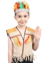N2639 COSTUME CHILD MALE INDIAN SET VEST AND HEADBAND WITH FEATHERS  sc 1 st  Dormar Indents & Western Cowboys And Indians - Wholesaler Party Products u0026 Giftware ...